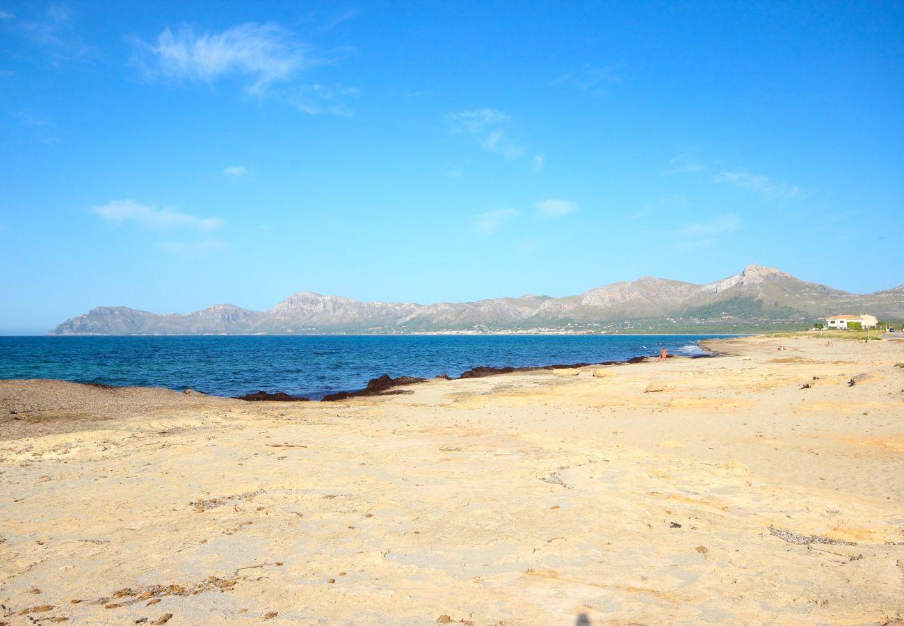 Preciosa vista de la playa desde la casa