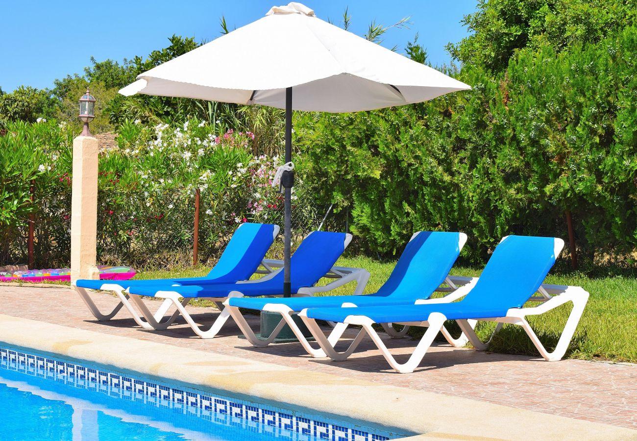 hamacas, piscina, verano, lujo, vacaciones