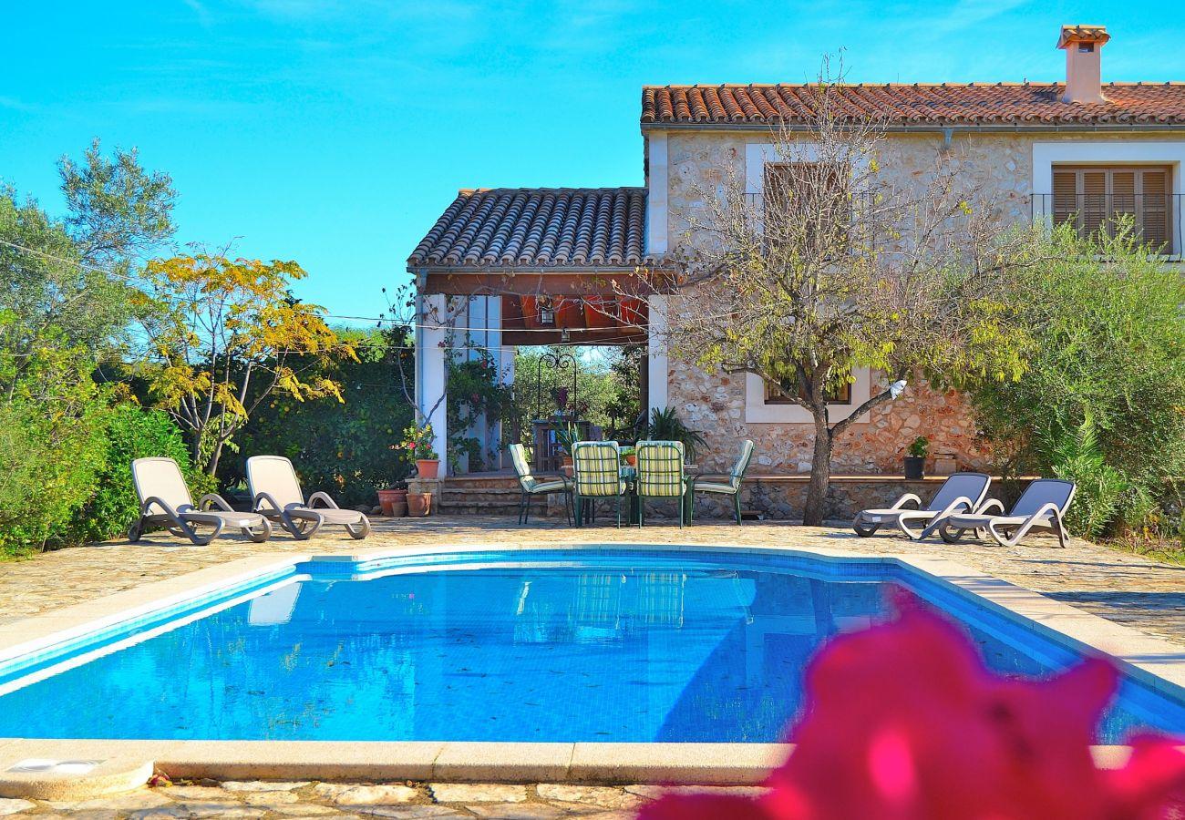 casa con piscina y hamacas perfectas para verano