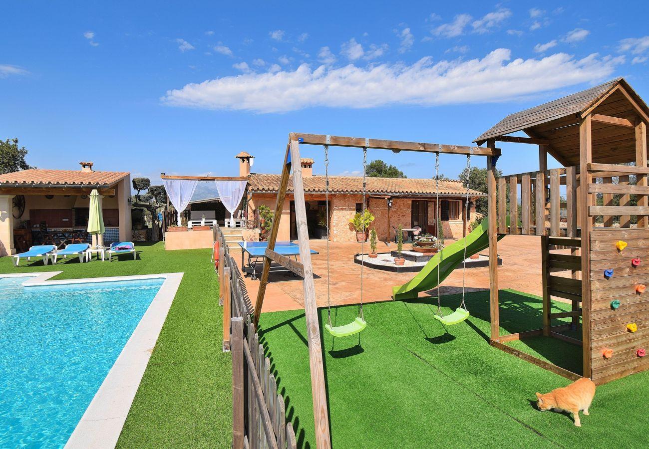 piscina, parque, finca, vacaciones, verano