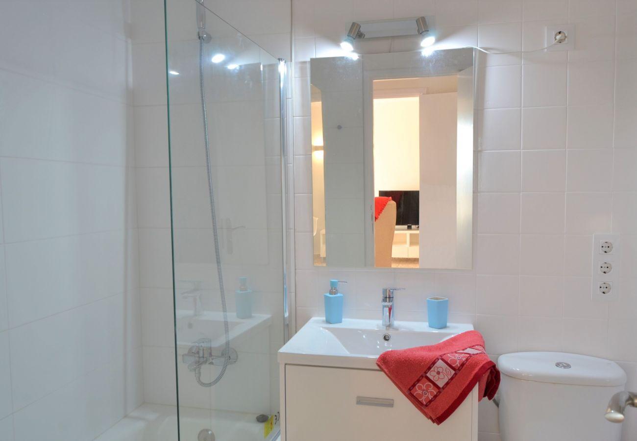 Foto del baño del apartamento en puerto de alcudia con vista mar