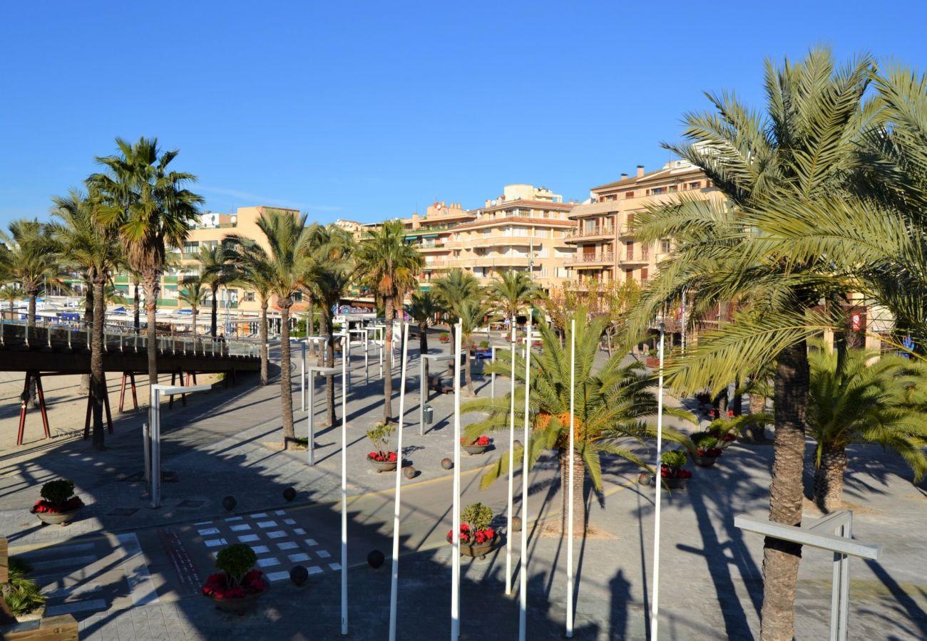 Vistas desde el apartamento en puerto alcudia cerca de la playa