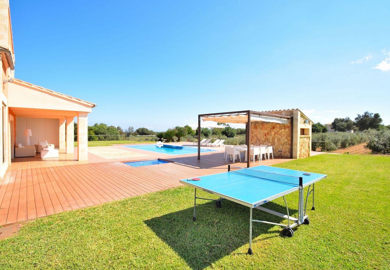 Foto del jardin de la villa de Can picafort