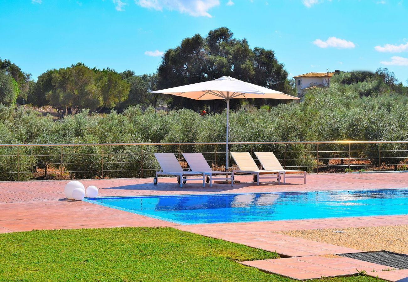 Amplia piscina de la villa en Can Picafort