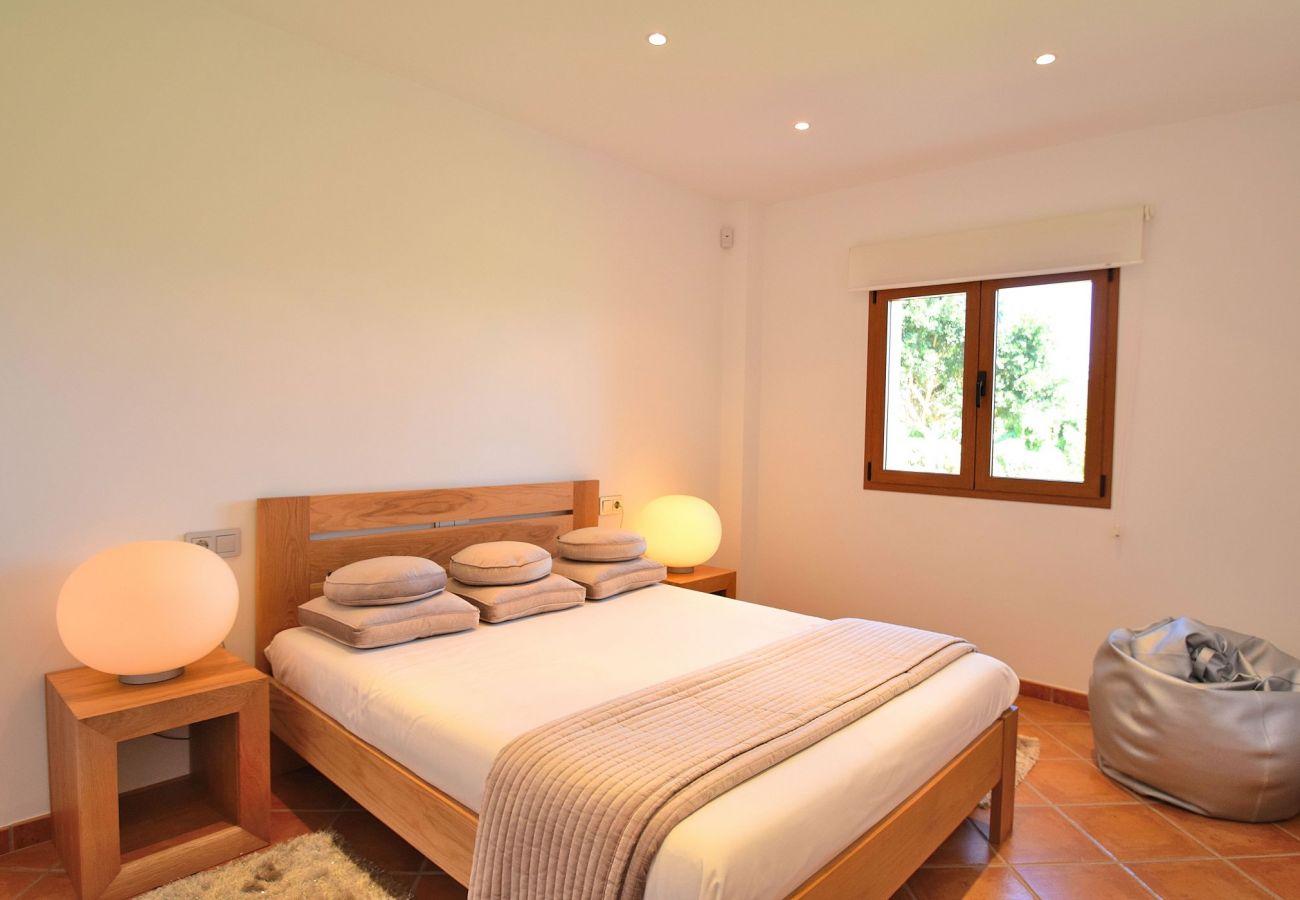 Dormitorio de la villa en Can Picafort