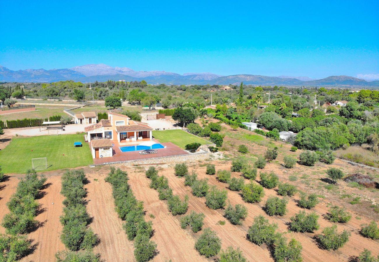 Foto aérea de la villa en can Picafort