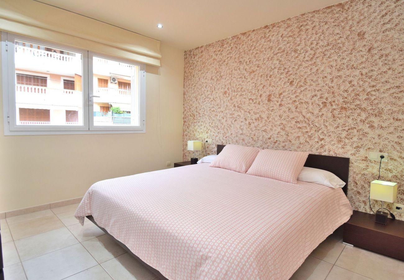 dormitorio del chalet en canpicafort
