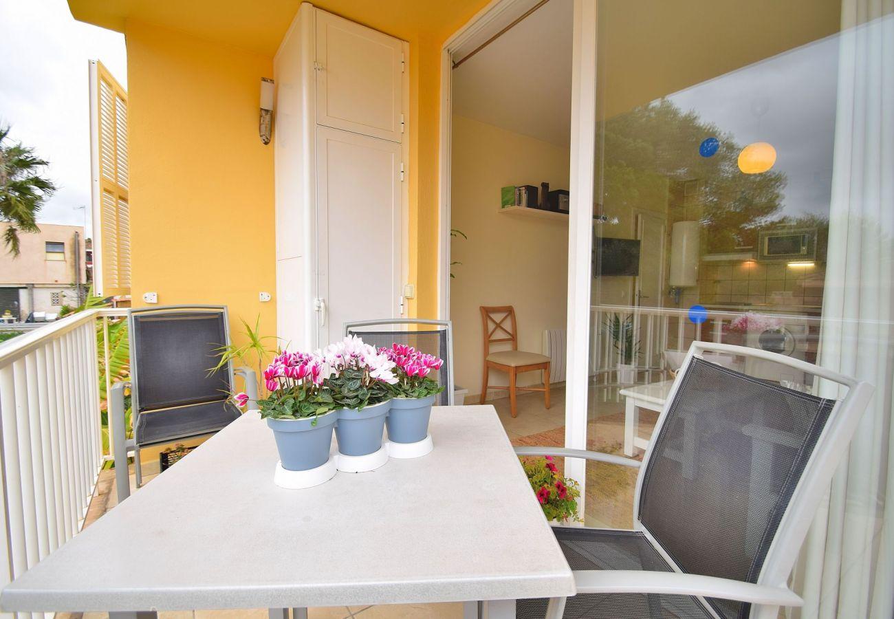 Terraza del apartamento en Can Picafort