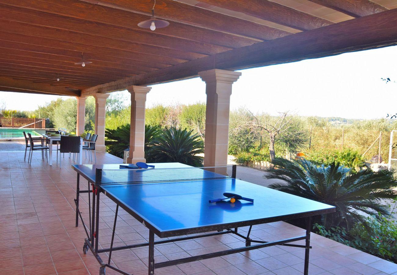 La villa tiene una mesa de ping pong