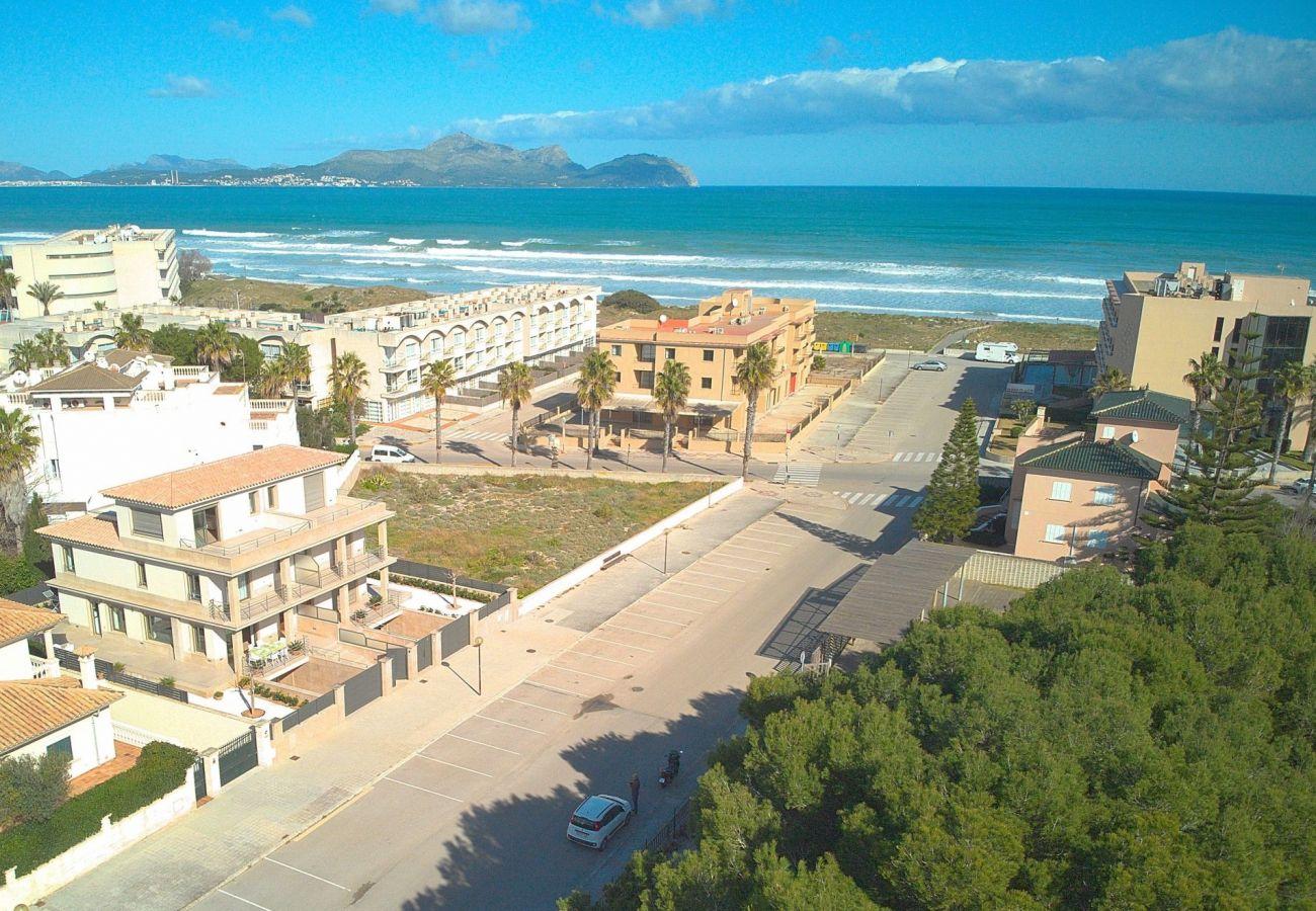 Foto de la villa con vistas al mar en Mallorca-Can Picafort