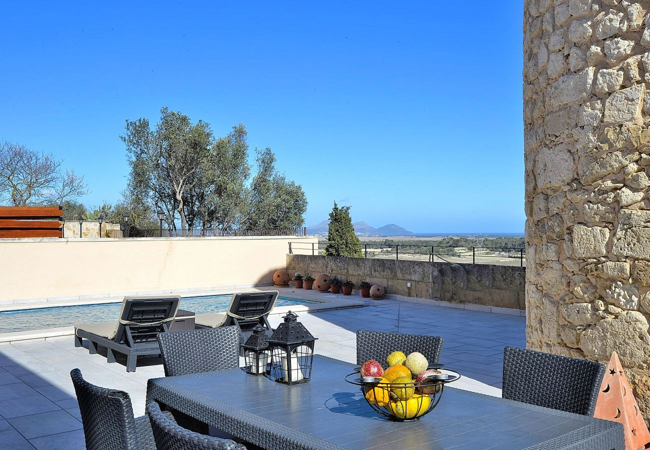 Foto des Badezimmers vom Ferienhaus von Muro Mallorca