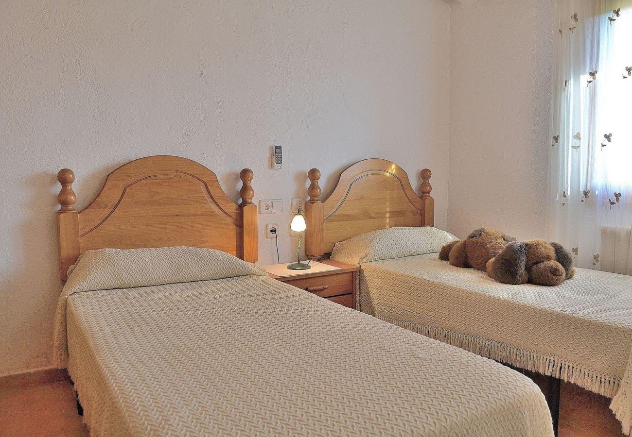 Die Finca  hat ein Zimmer mit zwei Betten