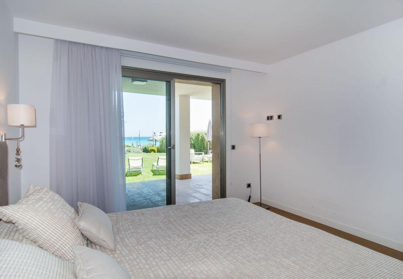 Schlafzimmer des Ferienhauses von Playa de Muro