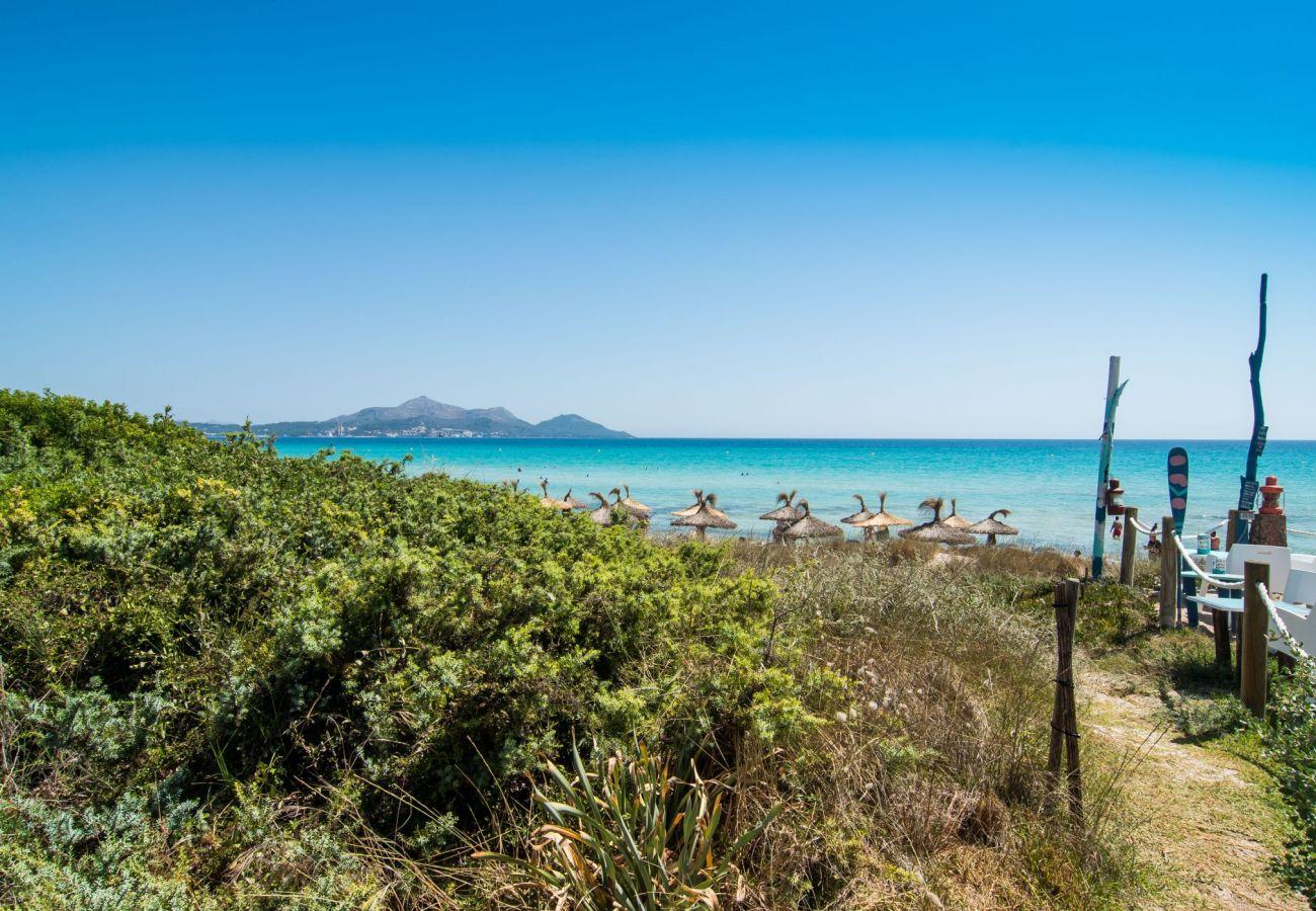Blick auf das Meer von der Villa in playa de muro