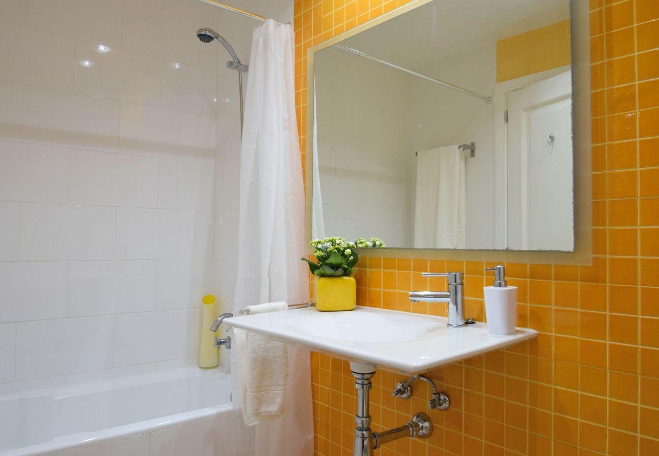 renoviertes Bad des ferienhauses in can picafort