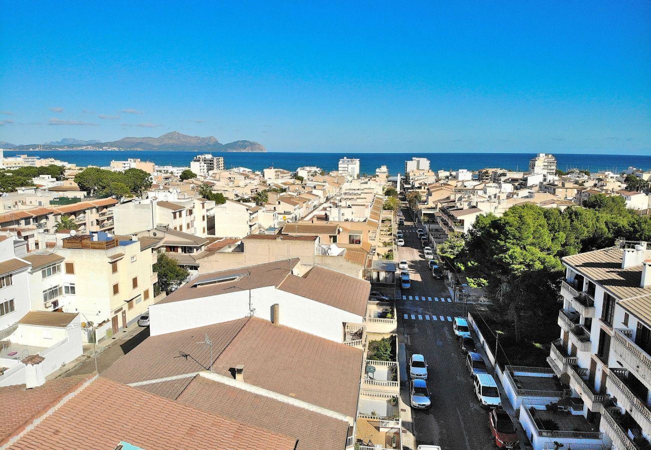 Luftbild von Can Picafort