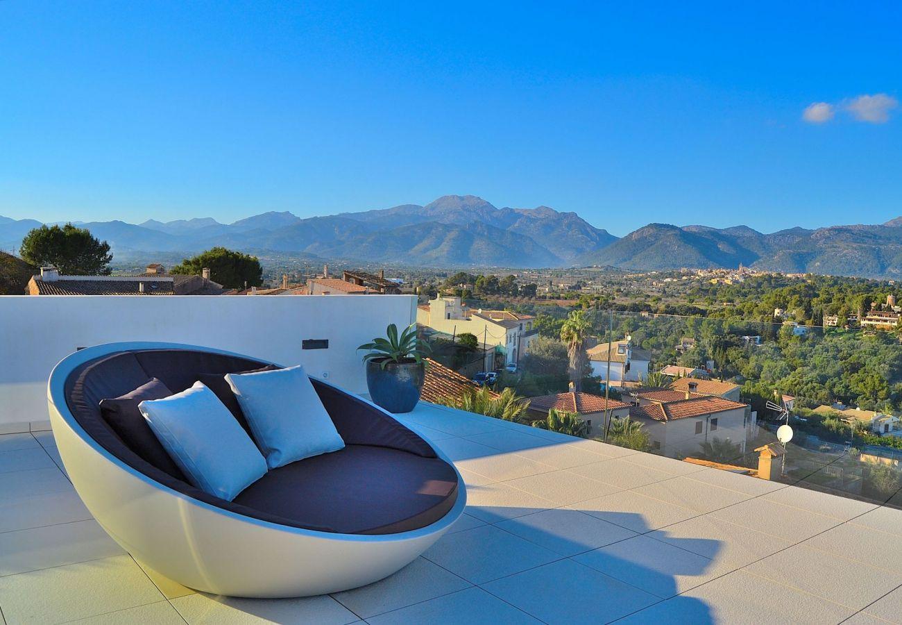 Bergblick von der Terrasse aus