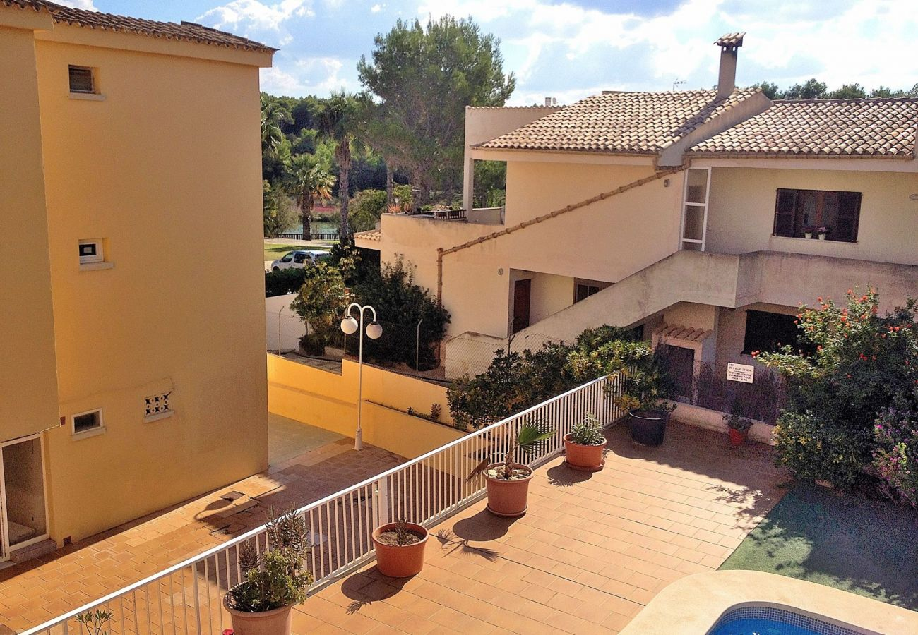 Blick von der Terrasse Der Ferienwohnung in Can Picafort