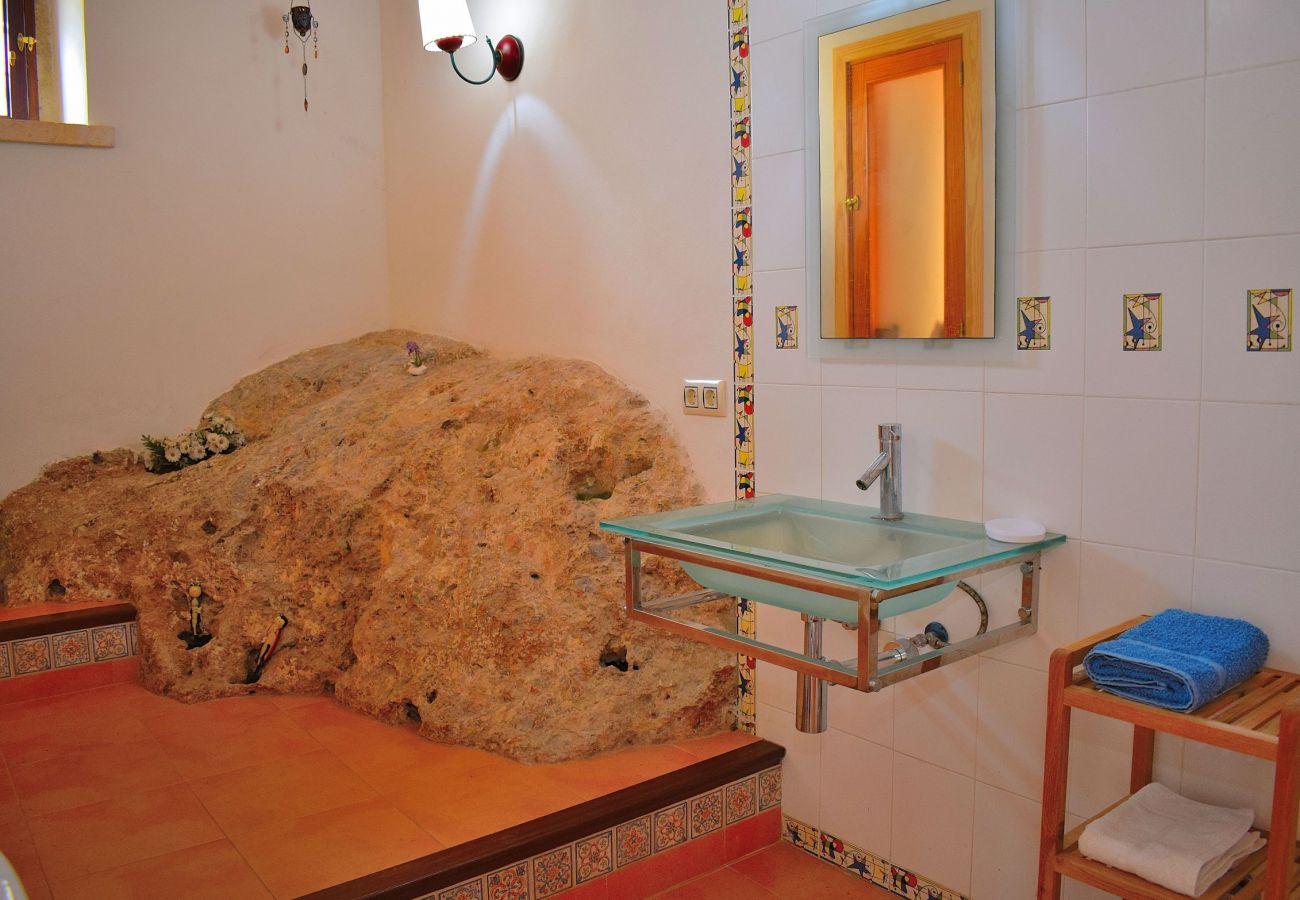Badezimmer der Villa in Alcudia