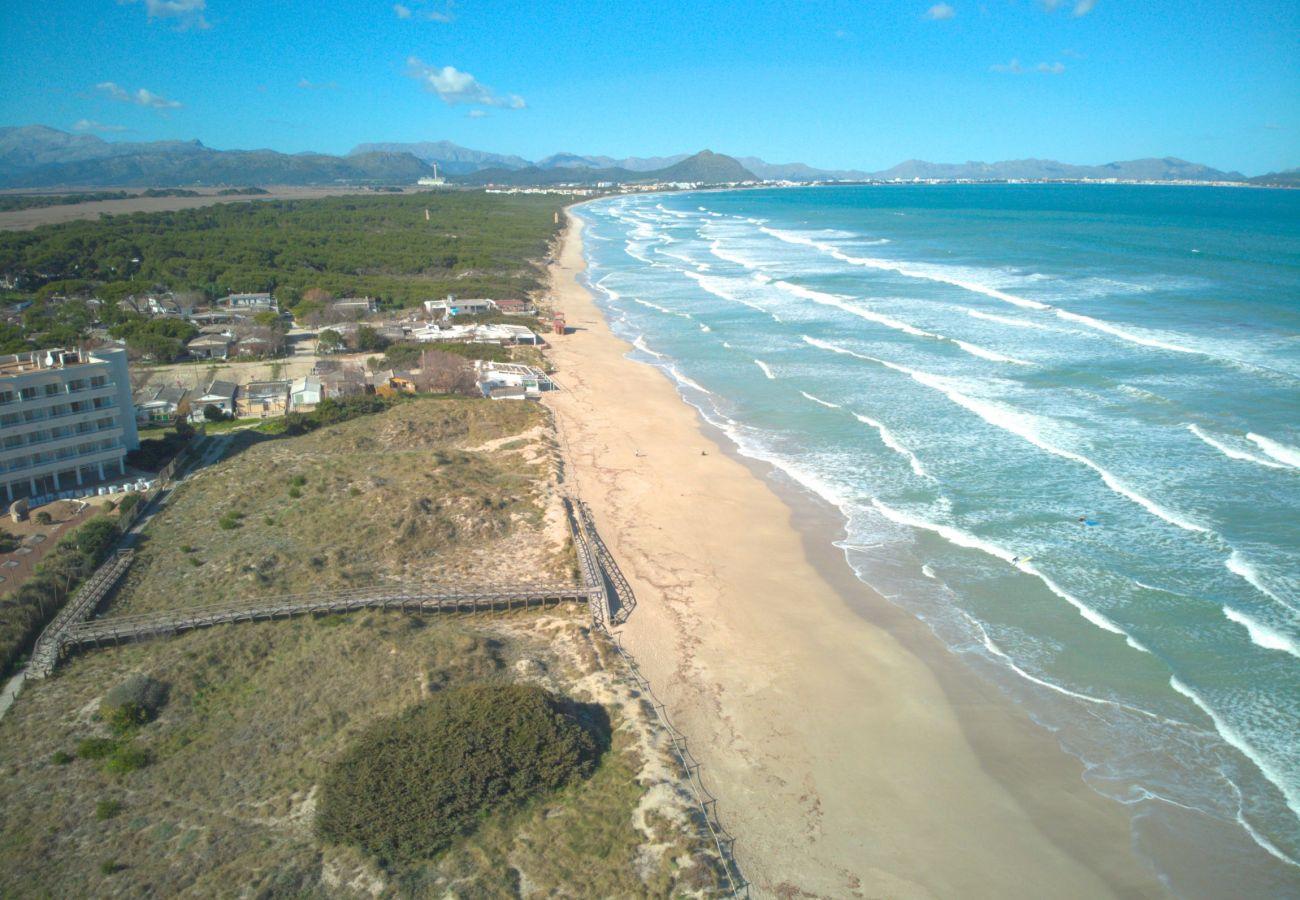 Foto vom Strand von Can Picafort