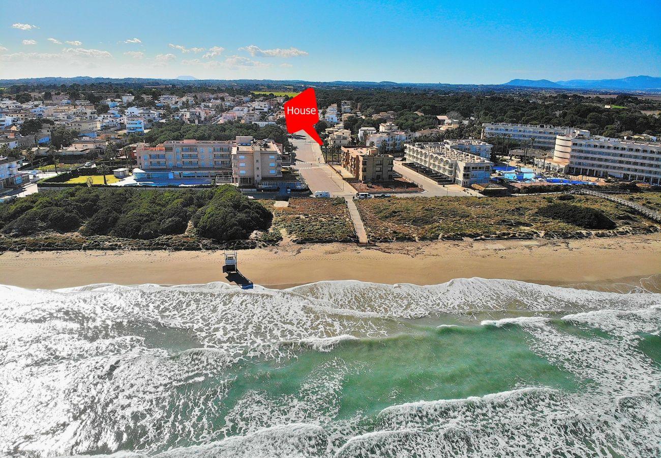 Foto vom Strand von Can Picafrot