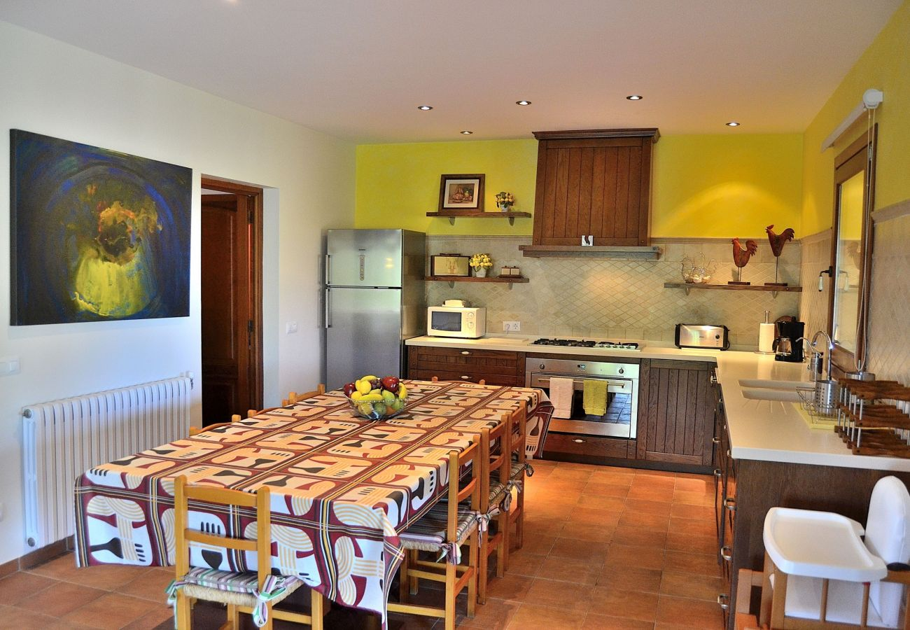 The kitchen of the villa has a lot of space