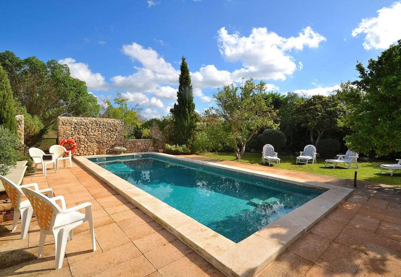 The villa has of a large pool