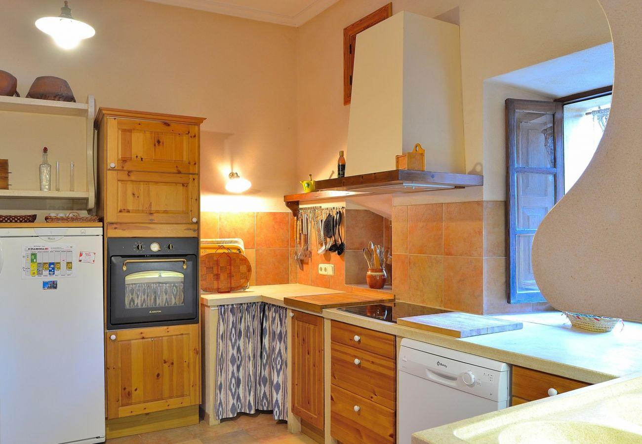 The villa has a large kitchen
