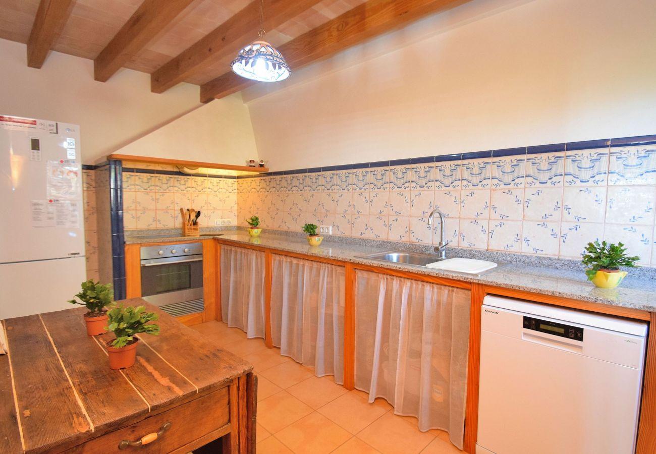 Kitchen of the villa in Alcudia mallorca