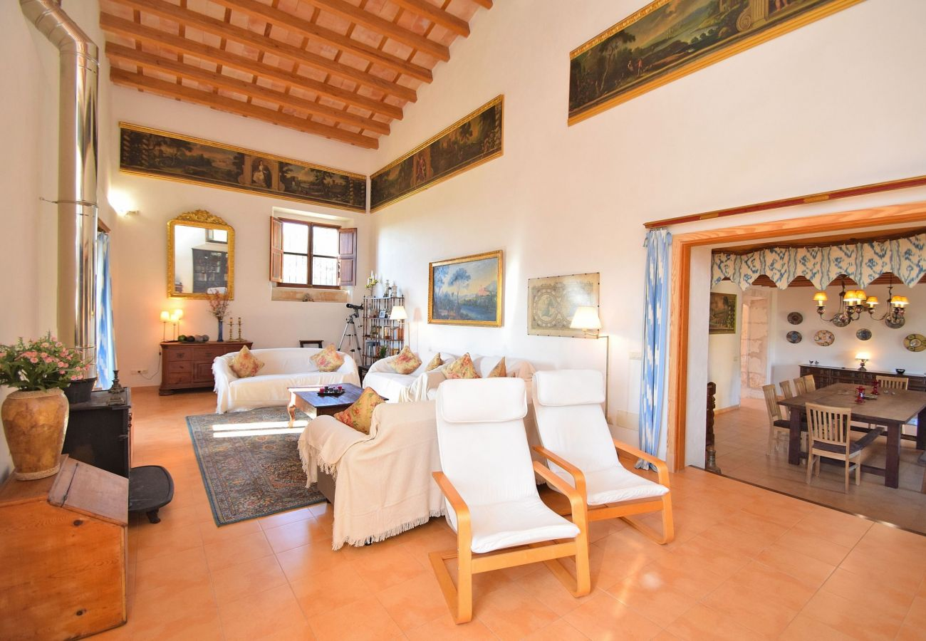 the villa has a large living room