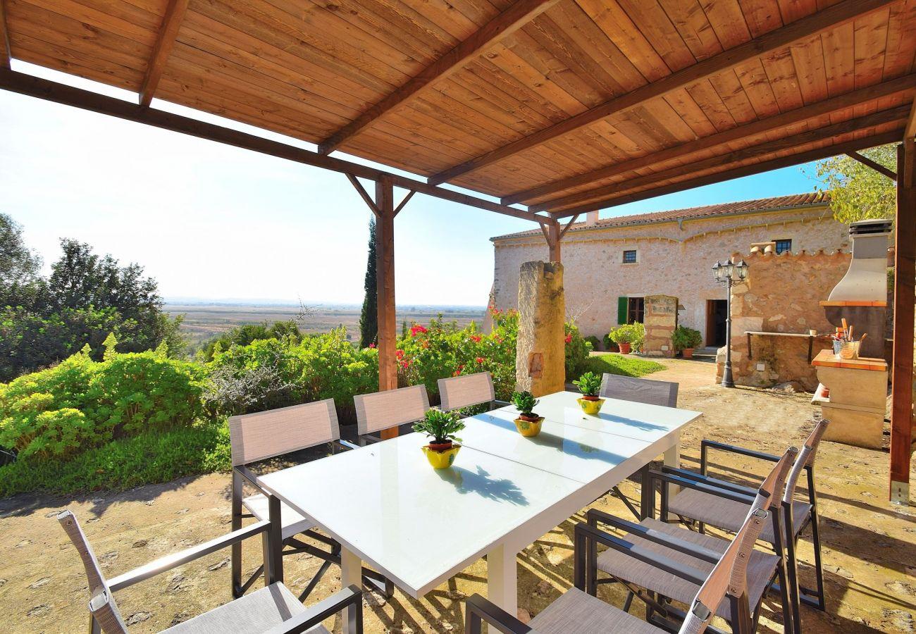 Terrace of the villa in Alcudia