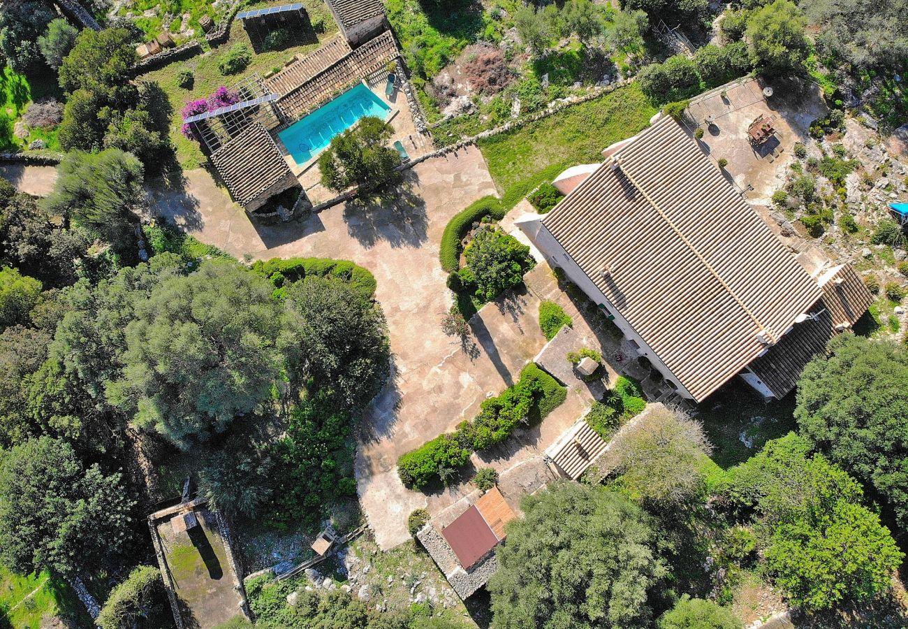 Aerial photo of the whole villa in Alcudia