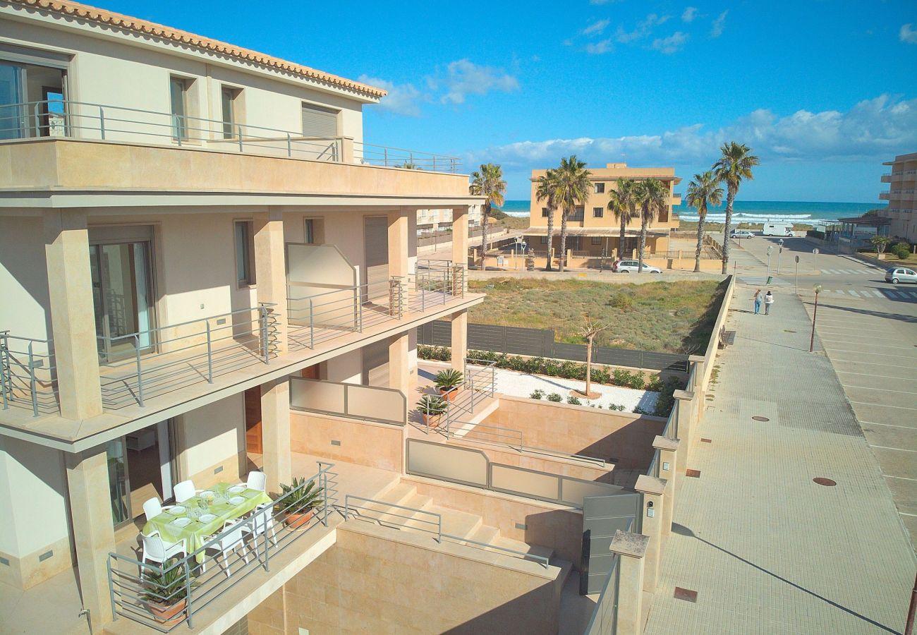 Sea views from the luxury villa in Can Picafort-Mallorca