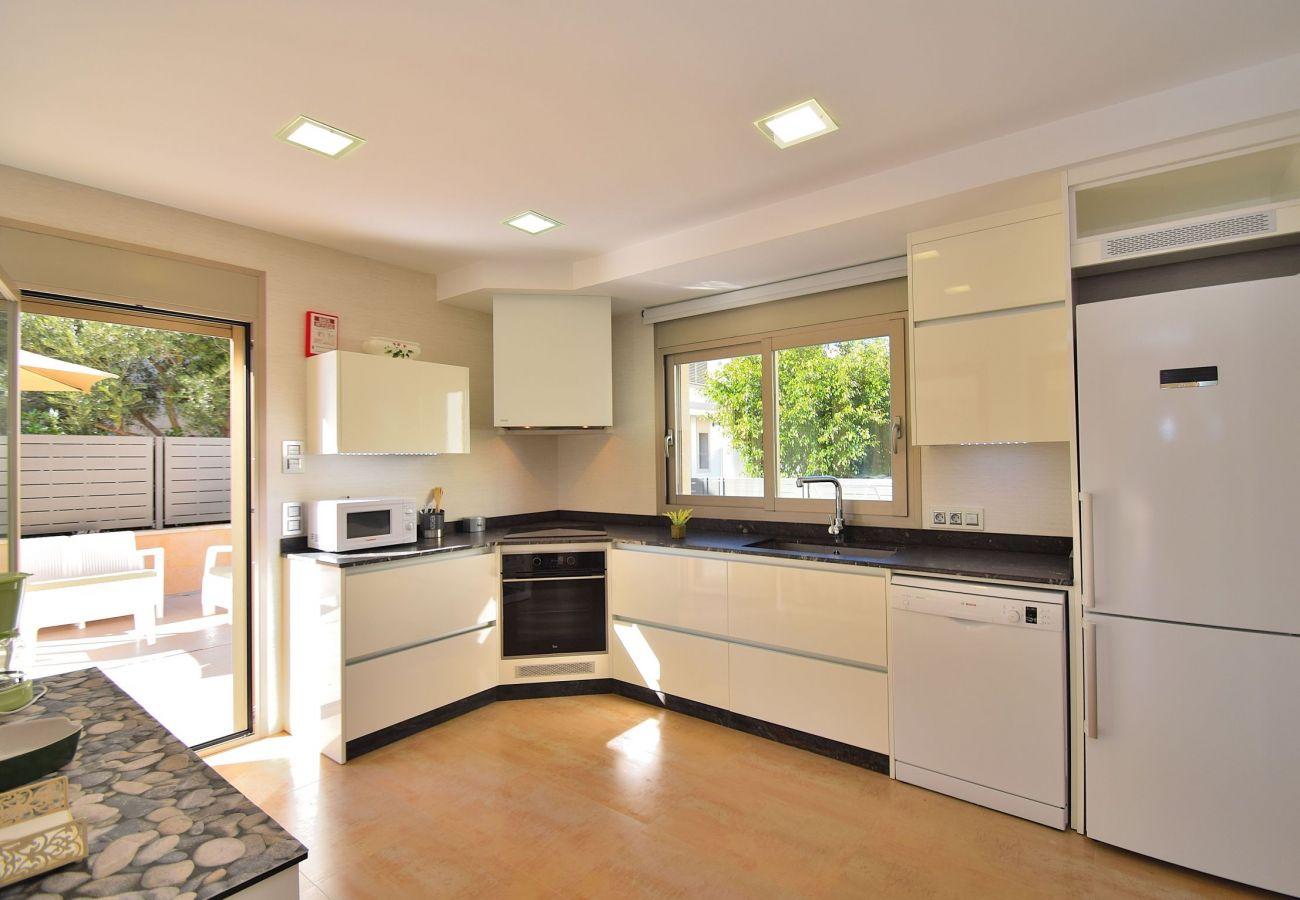 Luxury villa kitchen in Can Picafort-Mallorca